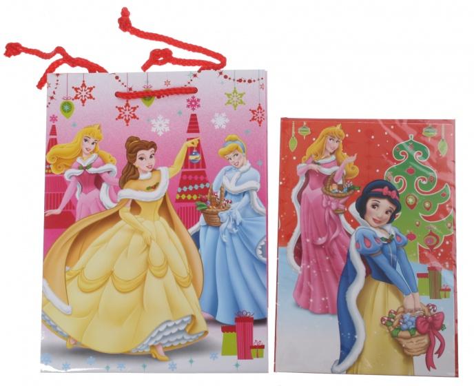 Disney Princess cadeautas en wenskaart 24 x 17 cm
