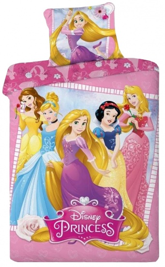 Disney Princess dekbedovertrek Frame paars 140 x 200 cm