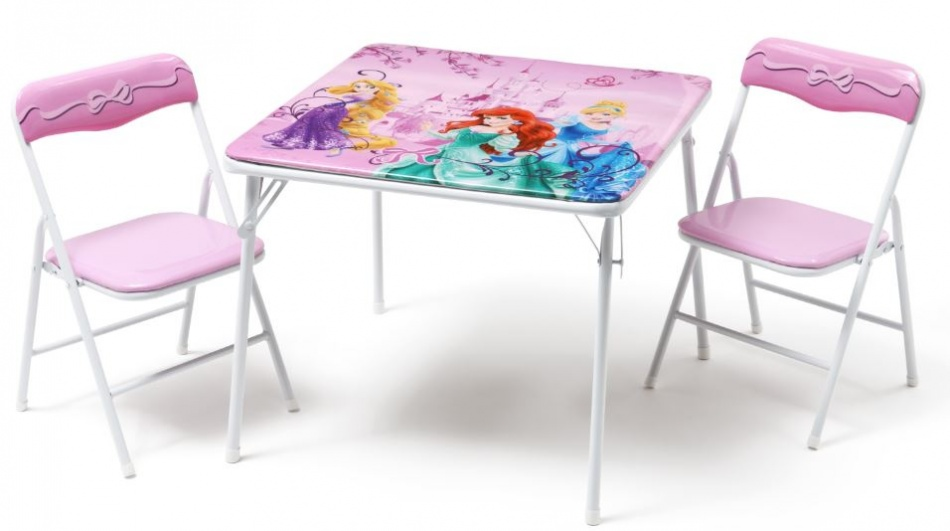 Disney Princess inklapbare Tafel en Stoelen Set roze