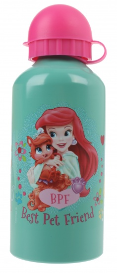 Disney Princess Palace Pets alu. drinkfles 600 ml mint groen