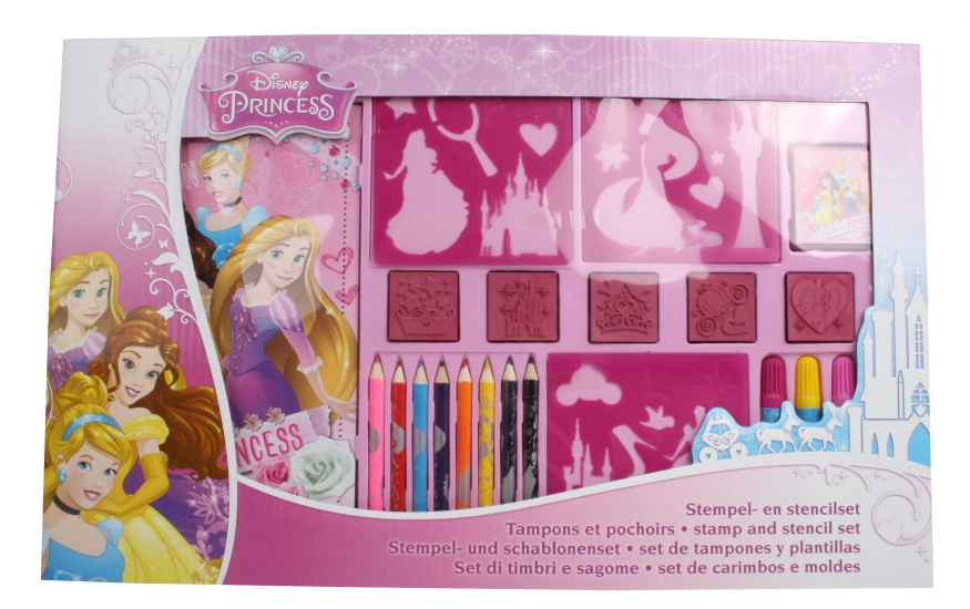 Disney Princess Stempel en kleurset 22 delig