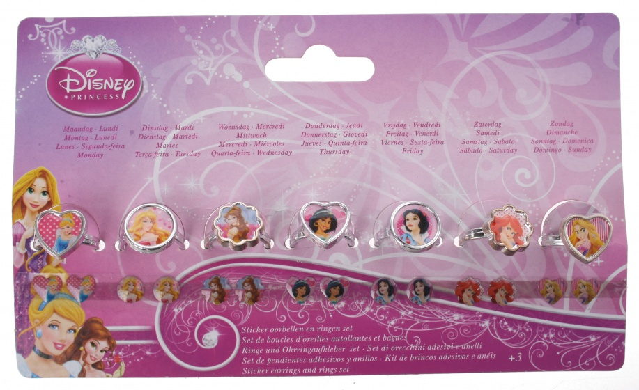 Disney Princess stickeroorbellen en ringen 14 stuks