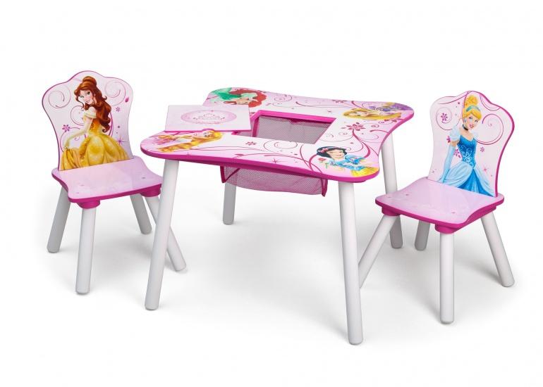 Disney Princess Tafel en Stoelen Set licht roze 60 x 60 x 44