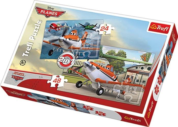 Disney Puzzel Planes 2 in 1 24/48 Stukjes