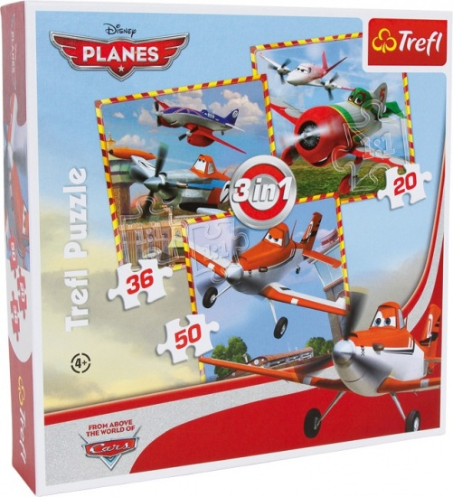 Disney Puzzel Planes 3 in 1