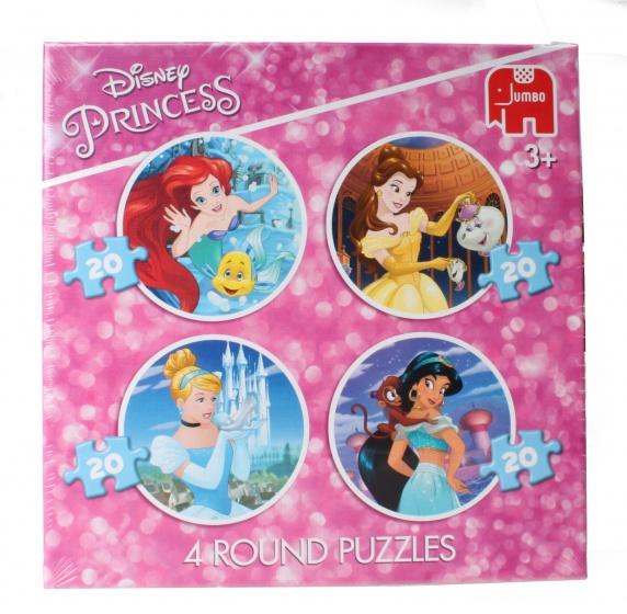 Jumbo Ronde Legpuzzels Disney Princess 4x20 stukjes