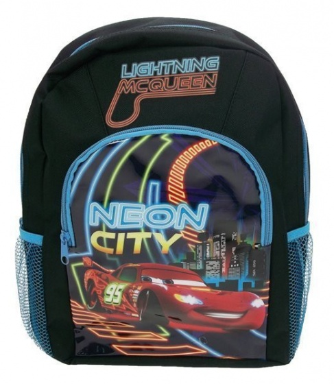 Disney rugzak Cars Neon City zwart/blauw 10 x 36 x 32 cm