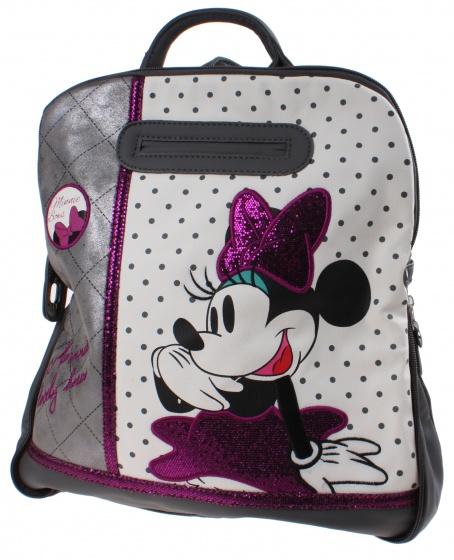 Disney Rugzak Minnie Mouse Bows 31 x 35 x 12 cm zwart-wit