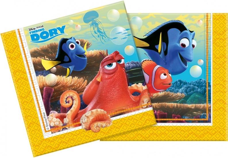 Disney servetten Finding Dory 33x33 cm: 20 stuks