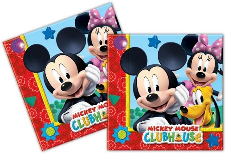 Disney Servetten Mickey Mouse 33 X 33 cm 20 Stuks