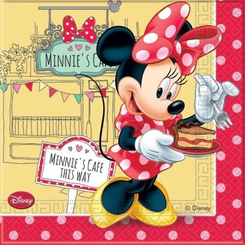 Disney Servetten Minnie Mouse 33 X 33 cm 20 Stuks