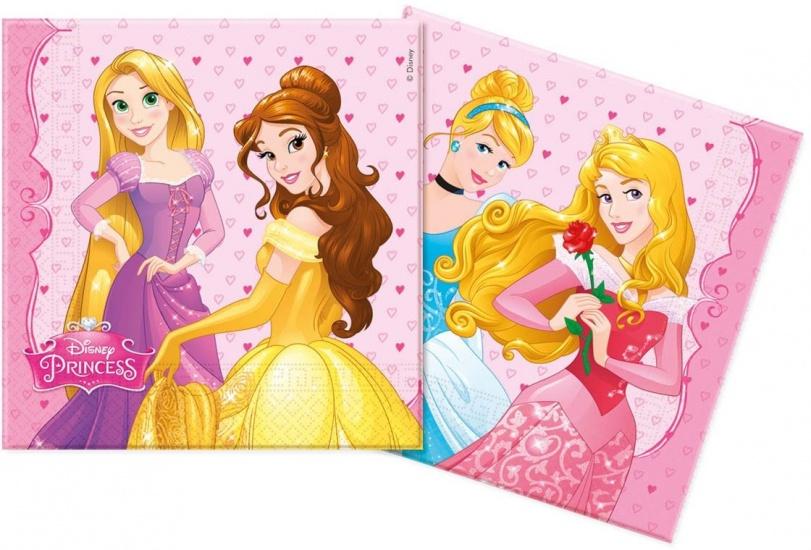 Disney Servetten Princess 33x33 cm: 20 stuks