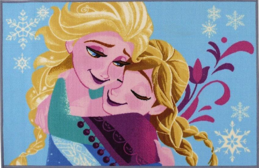 Disney vloerkleed Frozen blauw 120 x 80 cm