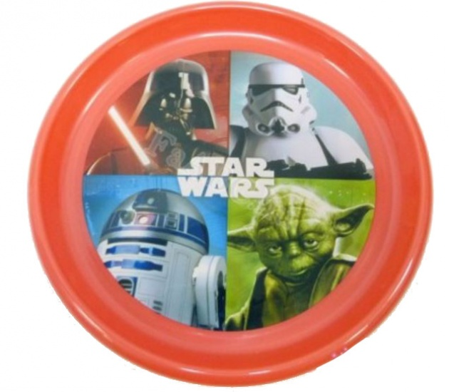 Disney Star Wars bord 23 cm rood