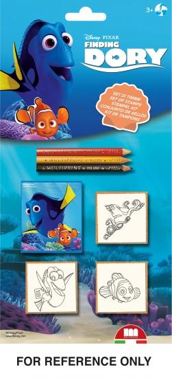 Disney Stempelset Finding Dory 3 delig