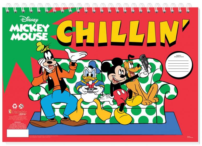 Disney sticker en kleurboek Mickey Mouse Chillin' 33 cm papier