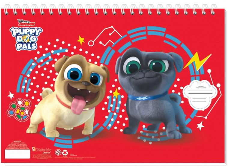 Disney sticker en kleurboek Puppy Dog Pals 33 cm papier rood