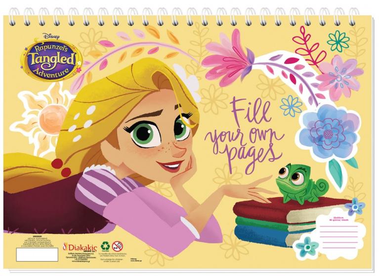 Disney sticker en kleurboek Rapunzel 33 cm papier geel