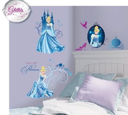 Disney Muurstickers Princess 4 Vellen 25 X 46 cm