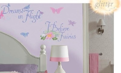 Stickervel Fairies Muur: 1 Vel 46x101 Cm