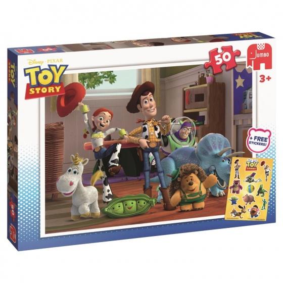 Jumbo Disney Toy Story puzzel met stickers 50 stukjes
