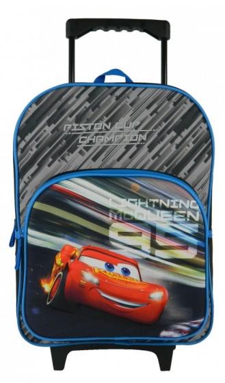 Disney trolley rugzak Cars Lightning 3D 8 liter blauw-zwart