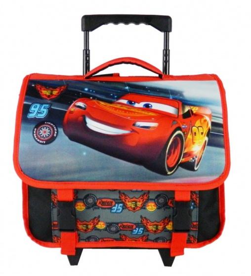 Disney trolley rugzak Cars Pistoncup 3D 8 liter zwart-rood