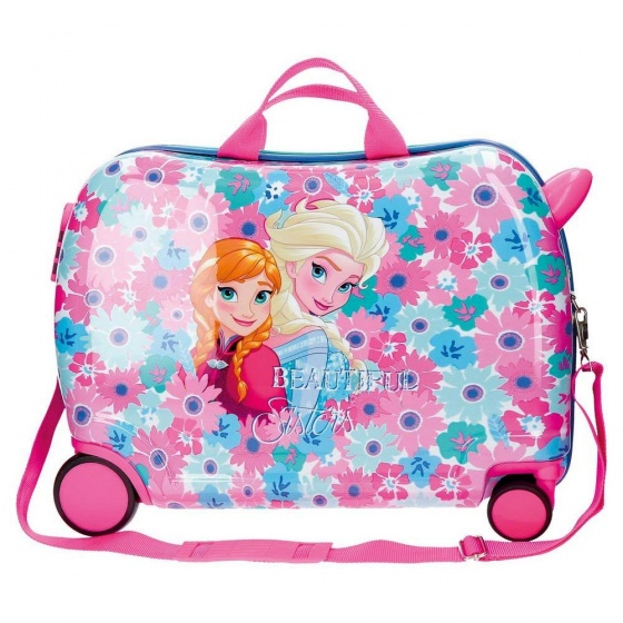 Disney Rolling Suitcase 4 Wheels Frozen Flowers