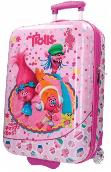Disney Trolls Happy trolley 55 x 36 x 20 cm roze