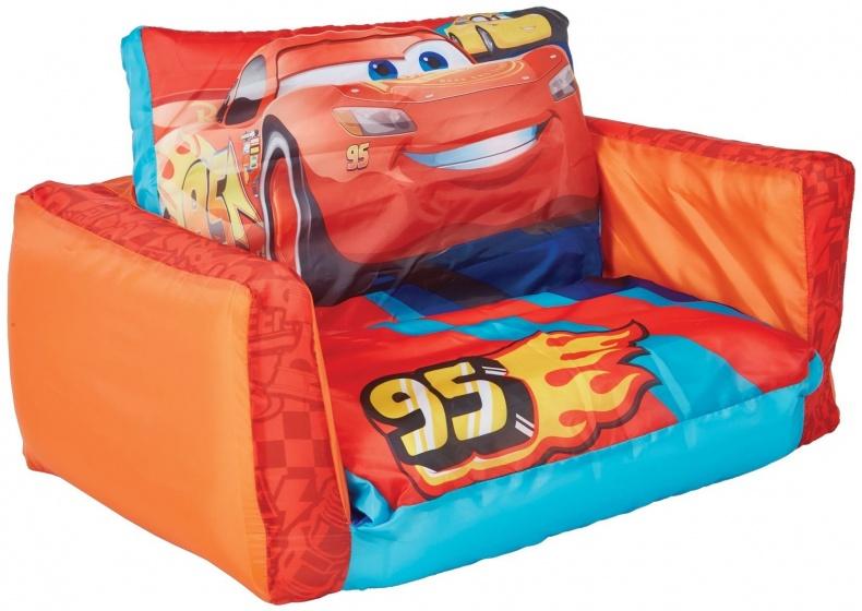 Disney uitklapbaar stoeltje Cars jongen 105 x 68 x 26 cm rood