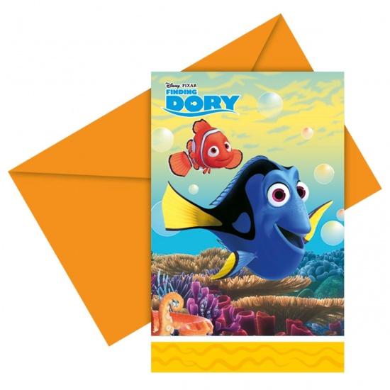 Disney uitnodigingen Finding Dory: 6 stuks