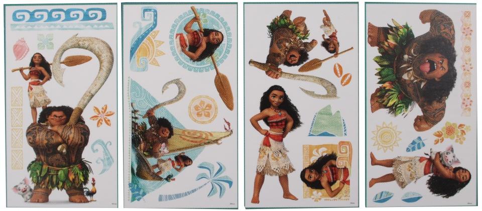 Disney Vaiana muurstickers 45 x 25 cm 25 stuks