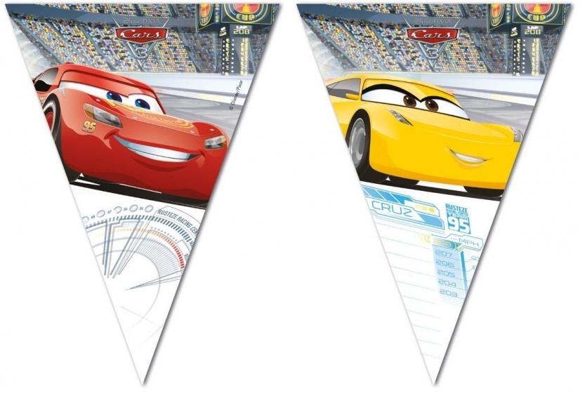 Disney Vlaggenlijn Cars 3 200 cm rood/geel