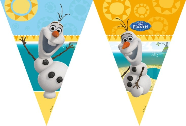 Disney Vlaggenlijn Frozen Olaf 2 Meter