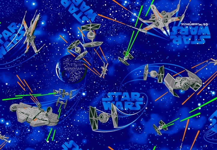 Disney Vloerkleed Star Wars Space 95 X 133 cm Blauw
