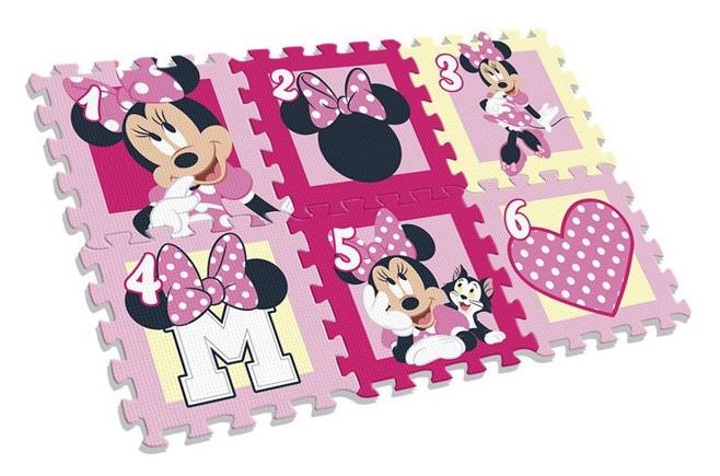 Disney vloerpuzzel Minnie Mouse junior 90 x 60 cm foam roze kopen