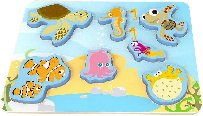 Disney vormenpuzzel Nemo junior hout 7 stukjes