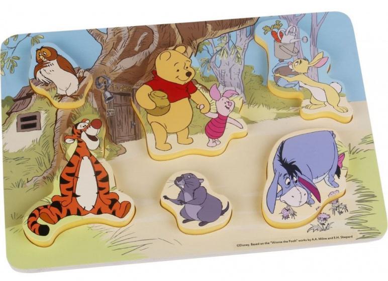 Disney vormenpuzzel Winnie the Pooh junior hout 6 stukjes