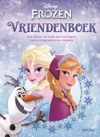 Disney Vriendenboek Frozen blauw