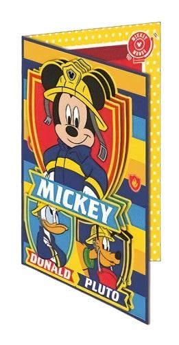Disney wenskaart 3D Mickey 20,5 x 14,5 cm papier geel-blauw