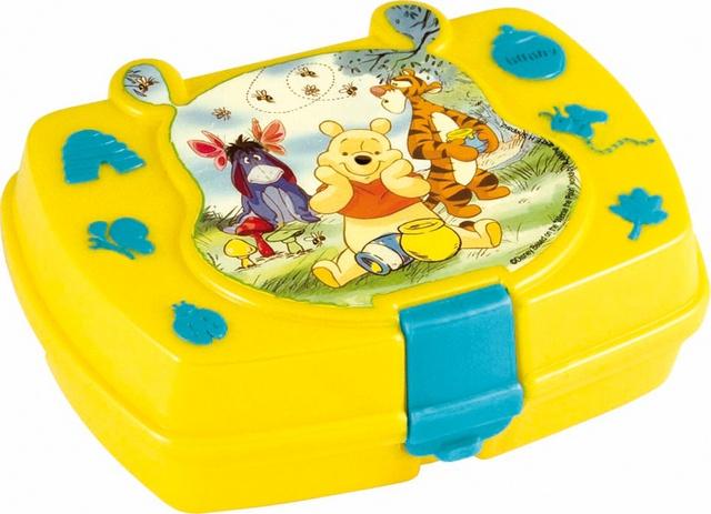 Disney Winnie the Pooh broodtrommel geel/blauw