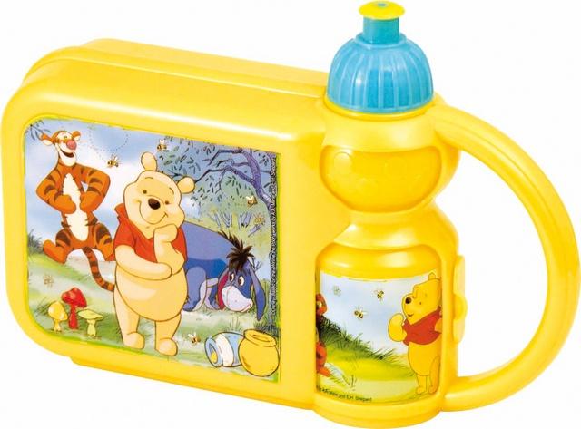 Disney Winnie the pooh broodtrommel met bidon geel
