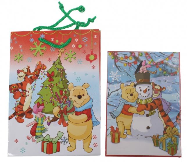 Disney Winnie the Pooh cadeautas en wenskaart 24 x 17 cm