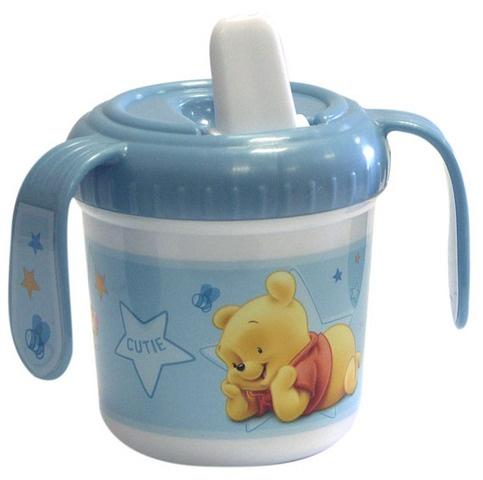Disney Winnie the Pooh tuitbeker baby 280 ml lichtblauw