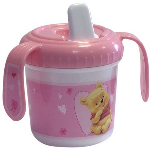 Disney Winnie the Pooh tuitbeker baby 280 ml roze