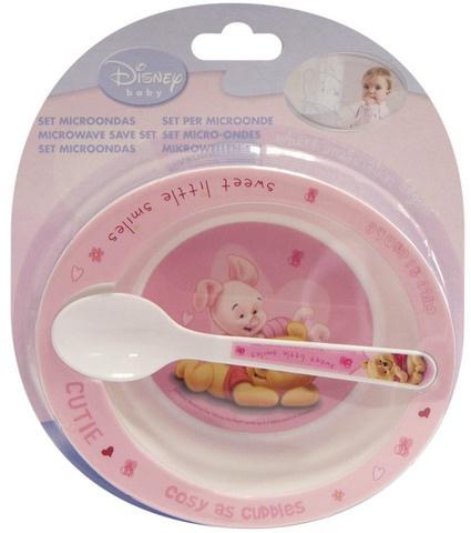 Disney Winnie the Pooh kom met lepel roze