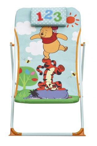 Disney Winnie the Pooh Strandstoel 42 x 88 x 59 cm lichtblauw