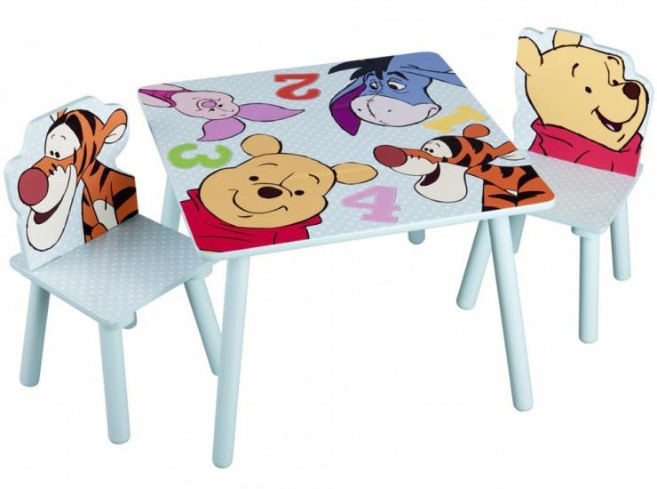 Disney Winnie the Pooh Tafel en Stoelen Set licht blauw