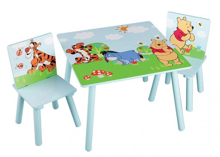 Disney Winnie the Pooh Tafel en Stoelen set lichtblauw