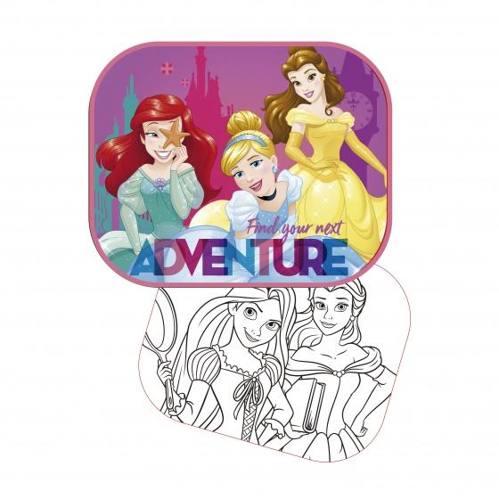 Disney zonnescherm Princess 2 stuks 45 x 36 cm + kleurplaat kopen